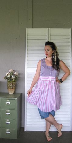 eco urban dress upcycled clothing Romantic by lillienoradrygoods, $64.50