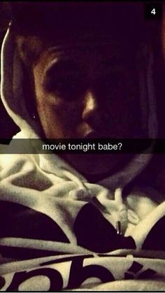 Movie tonight babe? Of course baby i love you Justinnnn... you are my husband... Love you forever <3 <3 <3 im a Belieber <3 <3 <3