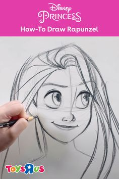 Kids and adults can learn how to draw Rapunzel from Disney Tangled by watching a pro at work! See the tutorial featuring a Walt Disney Company artist who shows us how to draw the Disney Princess Rapunzel, step-by-step. #rapunzel #drawdisney #stepbystepdrawingtutorial #drawingtutorial #sketching #sketchdisney #drawadisneyprincess #learntodraw #drawlikeapro