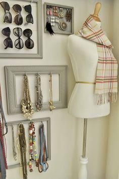 gallery wall accessory storage DIY
