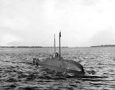 """USN - """"USS X-1"""" (SS-X1) Used to Evaluate the Defense of Harbors Against Very Small Submarines, USN Only Midget Submarine - Launched, 7 September, 1955 - Out of Service, 16 February, 1976 - Museum Ship, Groton, Ct (2)"""