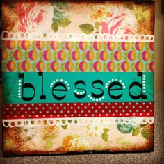 Blessed original painting by catinajanearts on Etsy, $25.00