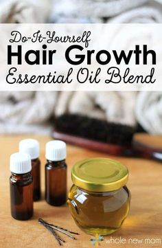 DIY Essential Oil Blend for Hair Growth--It REALLY works!
