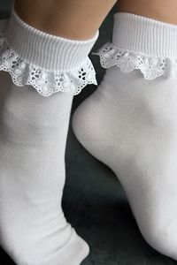 Lace Trimmed Ankle Socks (always wore these things as a child)