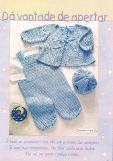 Croche pro Bebe: Casaco e Macacão