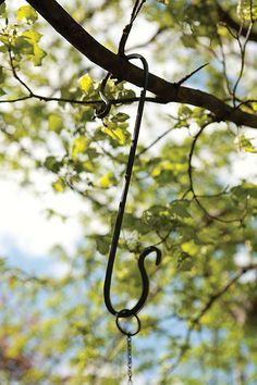 Birding Basics Forged Branch Hooks Set of 3