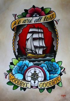 ship+anchor+compass+tattoo | INK IT UP: Ship tattoo flashes & tattoos