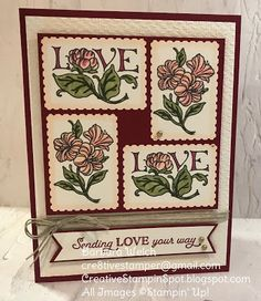 Patchwork Cards, Valentines Day Cards Handmade, Stamping Up Cards, Mothers Day Cards, Card Sketches, Flower Cards, Homemade Cards, Making Ideas, Your Cards