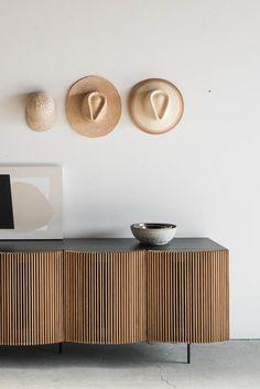 Brooks Credenza (4 Doors) Minimalist Home Decor, Minimalist Interior, Minimalist Living, Modern Interior Design, Minimalist Kitchen, Minimalist Bedroom, Modern Minimalist, Modern Bedroom, Home Furniture