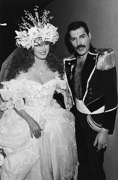 Jane Seymore and Freddy Mercury