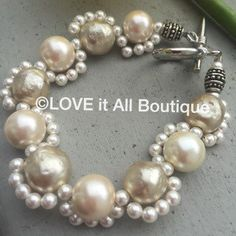 WEDDING PEARL Bracelet Freshwater pearl by LOVEitAllBoutique