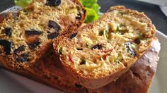 Cake chorizo poivrons olives noires
