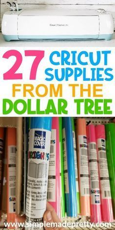 Cricut or Silhouette Supplies from the Dollar Tree, Cricut & Silhouette Crafts One question I'm frequently asked is where can I buy Cricut supplies? You'll find my favorite Cricut Craft Supplies from the Dollar Tree in this list! Cricut Ideas, Cricut Tutorials, Ideas For Cricut Projects, Cricut Vinyl Projects, Cricut Explore Projects, Hobby Ideas, Project Ideas, Dollar Tree Cricut, Dollar Tree Crafts