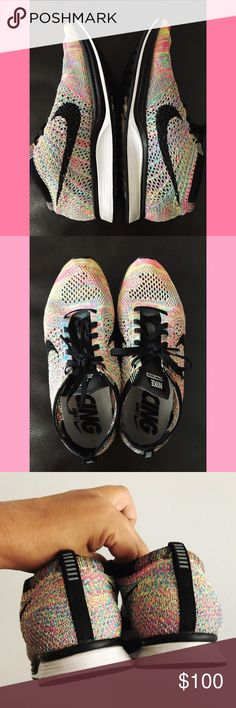 Nike Flyknit Racer Like new condition, very light weight and comfortable. Size 6 in Woman's. Will consider reasonable offers. Nike Shoes Sneakers