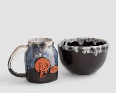 black ceramic set, ceramic serving set, black serving set, hostess gift, home gift,black dinnerware, black dinner set,housewarming gift by MomopotteryStudio on Etsy
