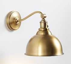 PB Classic Metal Bell Curved Arm Sconce