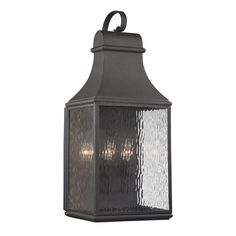 Westmore Lighting Foxborough 27-in H Charcoal Outdoor Wall Light