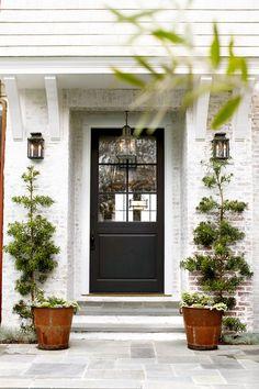 Front Door Colors For Brick Houses. Our Top front door colors for homes with red brick. Pick the perfect color for the front door of your brick house. Exterior Door Colors, Front Door Paint Colors, Painted Front Doors, Exterior Doors, Paint Colours, Exterior Paint, Dark Colors, Best Front Doors, Black Front Doors