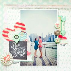 #papercraft #scrapbook #layout  Love was made for you and me by geekgalz at @Studio_Calico