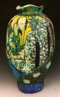 Valley of Life Vase, Back by George Pearlman | GeorgePearlman.com