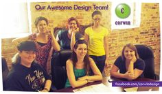 Corwin Design & Graphics graphic design team! Welcoming some of our long time freelancers to the office!   #corwindesign #designers #artists #printing