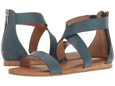 Steve Madden Halley Blue Leather - Zappos.com Free Shipping BOTH Ways