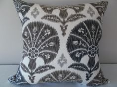 This Braemore Ikat Grey Niso Decorative Pillow Cover is a Magnificent Modern Accent Pillow, that Showcases the .NISO IN ONYX. Grey Pillows, Ikat Pillows, Floral Pillows, Toss Pillows, Accent Pillows, Decorative Pillow Covers, Cushion Covers, Brown And Grey, Light In The Dark