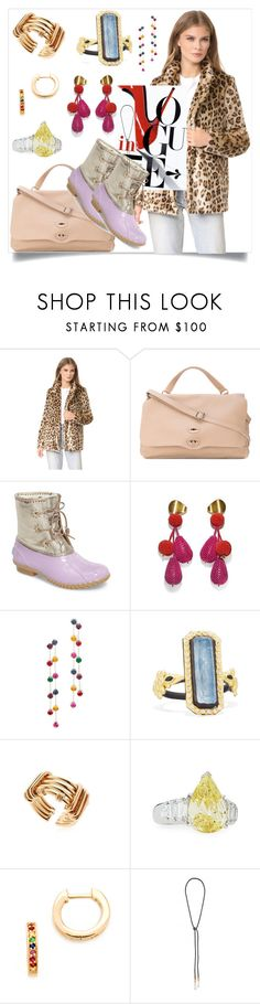 """Set for amazing"" by denisee-denisee ❤ liked on Polyvore featuring Zanellato, Jack Rogers, Lizzie Fortunato, Kenneth Jay Lane, Armenta, Fantasia by DeSerio and Sydney Evan"