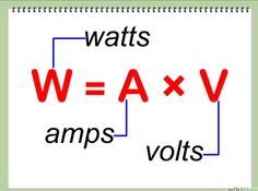 How to Calculate Wattage – Trend Medical Basic Electrical Wiring, Electrical Circuit Diagram, Electrical Symbols, Electrical Projects, Electrical Installation, Electronic Circuit Projects, Electronic Engineering, Electrical Engineering, Engineering Technology