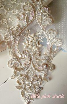 gorgeous lace applique by littlepinkstudio, via Flickr