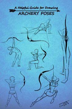 Drawing an archer