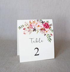Resultado de imagen para numero de mesa bodas