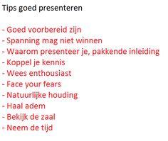 Tips goed presenteren