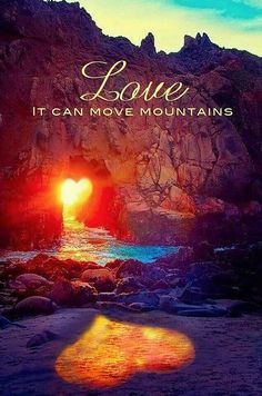 Quotes and inspiration about Love QUOTATION - Image : As the quote says - Description Love Can Move Mountains … Heart In Nature, Move Mountains, All You Need Is Love, Belle Photo, Love Heart, Heart Wave, Heart Pics, Heart Pictures, True Love