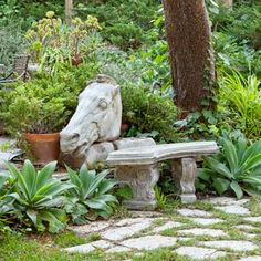 Bench!    Photo: Jennifer Cheung   thisoldhouse.com   from 18 Tips for Decorating Your Garden