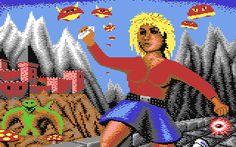 In - The Great Gianna Sisters - ein Spieleklassiker von 1987 hält Giana einen Edlstein in der Hand. Im Spiel muss sie einige davon sammeln.