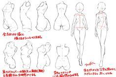 ref tuto manga body Figure Drawing Reference, Body Reference, Anatomy Reference, Female Reference, Drawing Studies, Drawing Skills, Drawing Poses, Sketch Manga, Manga Drawing