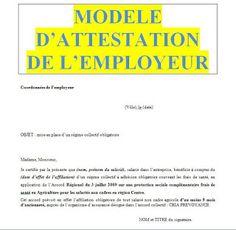 Attestation employeur : exemples de modèles en word doc