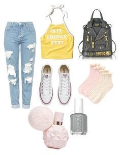 """""""✨✨✨"""" by macie-miller-1 on Polyvore featuring Topshop, Hollister Co., Converse, Moschino and Accessorize"""