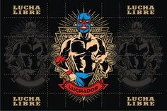 LUCHADOR #1 by arace on @creativemarket