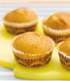 Offset unhealthy refined flour with nutrient-rich oats, banana and walnuts to make healthier muffins.