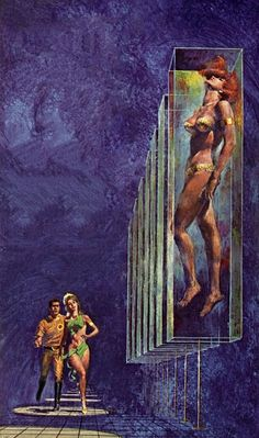 "A Tale Of Two Clocks, 1965. Artiste inconnu. ****If you're looking for more Sci Fi, Look out for Nathan Walsh's Dark Science Fiction Novel ""Pursuit of the Zodiacs."" Launching Soon! PursuitoftheZodiacs.com****"