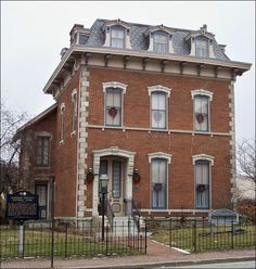 Gruenewald House in Anderson, IN. Another of the many Second Empire style houses in the state.