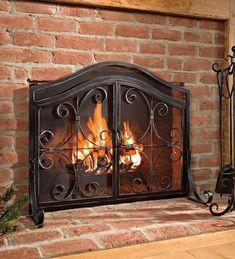 24 best wrought iron fireplace screen images wrought iron rh pinterest com
