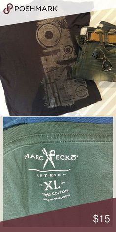 Marc Ecko cut and sew t shirt In perfect condition. Colors are black and silver. Cool t-shirt to wear on a night out. From a smoke and pet free home. I ship fast!  *I take offers on bundles   *No trades  *All offers considered Marc Ecko  Shirts Tees - Short Sleeve