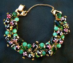 Juliana Hand Painted Polka Dot Necklace and Bracelet. $899.99, via Etsy.