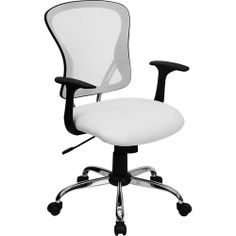 Flash Furniture Mesh Desk Chair with Chrome Base, White. This is actually not too bad.
