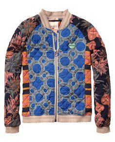 Gewatteerde patchwork jas   Jassen   Meisjeskleding bij Scotch & Soda