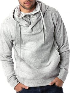Pull Over Mock Neck Hoody
