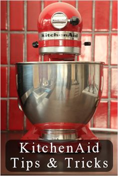 Twenty-one KitchenAid mixer tips and tricks: Converting Bread Machine Recipes - Easy Pulled Pork - Shredding Cooked Chicken - Use The Dough Hook For Meatloaf - Make Butter - How To Cream Butter & Sugar - DIY Splash Guard - How To Adjust The Beater - many DIY Fixes...A friend just pinned this and I thought of you, @Christina Childress Childress & Watts!